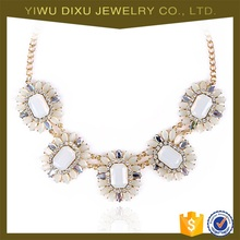 Yiwu Jewelry Factory Wholesale Handmade Gold Chain Chunky Necklace Jewelry Women Fashion Statement Necklace