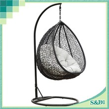 SD best sale promotional perfect natural rattan outdoor hanging swing chair