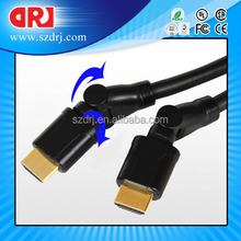 HDMI cable with two ferrite core,polyamide jacket