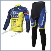 new 2014 spring& autumn custom design sublimation print long sleeve cycling jersey & pant, long sleeve cycling clothing