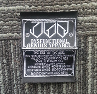 High Quality Custom Woven Label Brand Name Clothing Labels