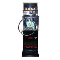 England popular game penny /coin press souvenir coin opreated game machine