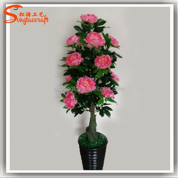 home decoration artificial potted flower plants cheap new sale creative gift home decoration 10pcs lot diy wall