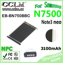 Hot selling 3.7V 3100mAh gb/t18287-2000 mobile phone battery for Samsung galaxy Note3 mini Note 3 Neo