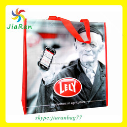 phone advertisement non woven tote bag from foreign country advertise usage