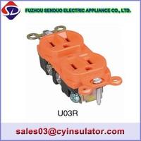 USA wall switch and socket U03R , U08 , U05 series suit for american market