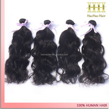 DHL fast shipping large stock natural color natural wave virgin indian human hair wholesale