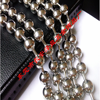 large mens stainless steel ball chain necklace