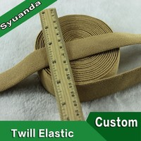 Custom Waist Woven Twill Elastic Webbing
