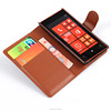 Custom wallet flip leather case cover for nokia lumia 520