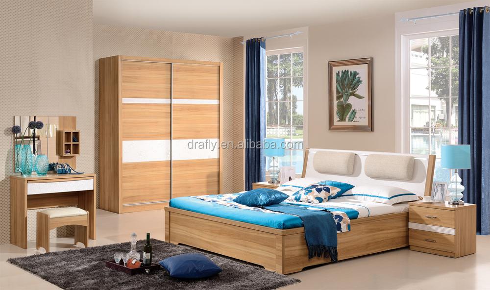 Moderna de madera fuerte pvc cabecero dormitorio juego de muebles ...