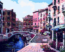 China wholesale Different Countryside oil painting by numbers with EN-71,ASTM,SGS