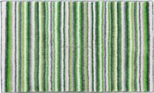 Rainbow comfort microfiber stripe bath mat