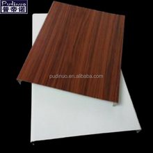 Popular printing Aluminum S-strip wooden ceiling panel with high quality