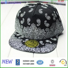 TOP quality cotton full printed free snapback hats size adjustable
