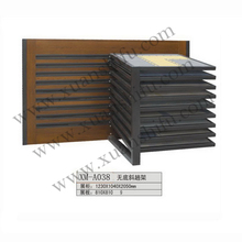 Travertine slab/travertine tile promotional display stand crystal stone wall tiles for bathroom exhibition stand