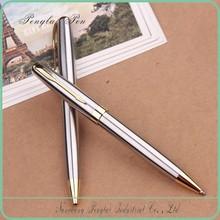 2015 Fashion silver Metal Signing shiny chrome ball pen
