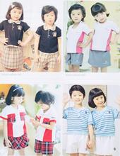 Japaness style boys wearing girls summer kindergarten uniform for kids