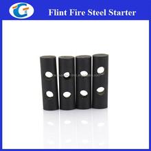 Portable Drilled Ferrocerium Steel Flint Fire Rod Starter Survive