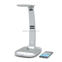 Modern usb port connect mobile touch sensor led table lamp with bluetooth speaker