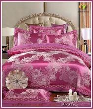 wholesale European style embroidery cotton satin bedset