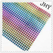 Sparkles Make It Special 24 Row Value Mesh Crystal Rhinestone Look Ribbon Wedding Cake Banding 10 yard Rainbow