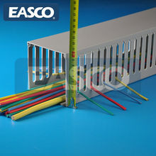 EASCO Wireway Raceway PVC Extruded Slotted Grey Manufacturer Approved By UL94V0 Electric Panel Building