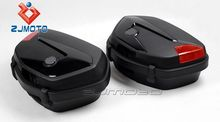 V-35 2 pieces 49x35x22cm (LxWxH) Black ABS plastic Motorbike Tail Box Case motorcycle box side bags ABS plastic pannier