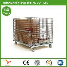 Supermarket Standard Folding Storage Container Steel Wire Cage