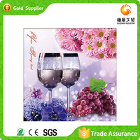 Sophisticated mosaic diamond nice painting for wall decor still life fruit oil painting