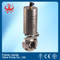 high temperature worm gear actuated butterfly valve LB