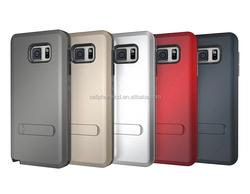 Cheap Price TPU PC Hybrid Phone Kickstand Case for Samsung Galaxy Note 5