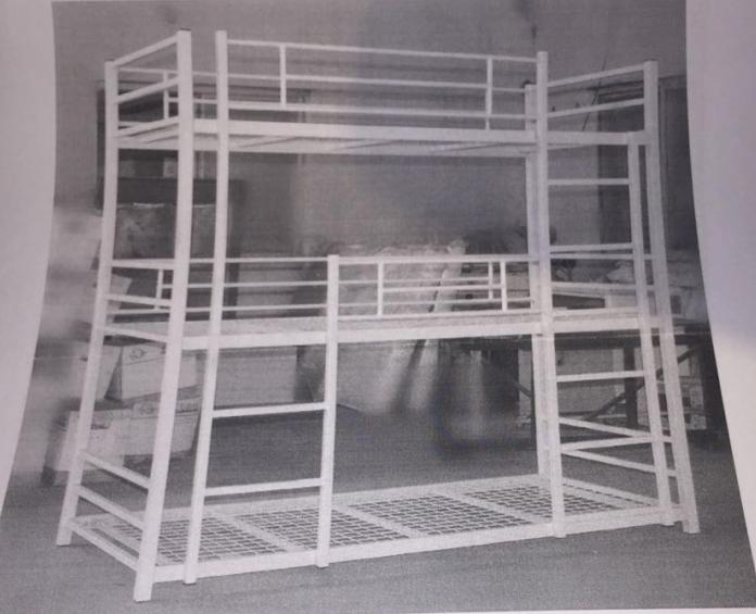 Metallbett Etagenbett : Schulmöbel metall triple etagenbett double decker bett stahl