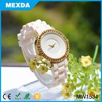 2015 geneva lady diamond silicone quartz vogue watch