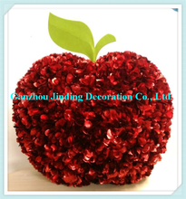 New design large decorative artificial flower apple for outdoor Christmas Decoration