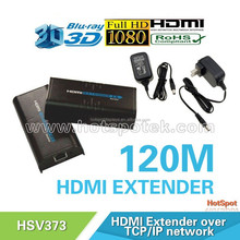lkv373 by CAT5/6 cable up to 120 meters hdmi extender over cat6