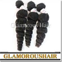 top quality 8a natural raw indian hair, unprocessed wholesale virgin indian loose wave hair weave