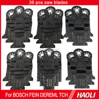 Hot sale 36 pcs oscillating tool saw blades for power tool, suit for most brand of multifunction tools