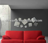 Wholesale Hot Square Shaped Mirror Wall Sticker For Promotional Gift KX-705
