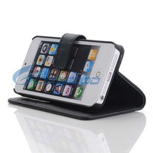 New Protective Flip PU Leather Case Folding Stand Cover For IPhone 5