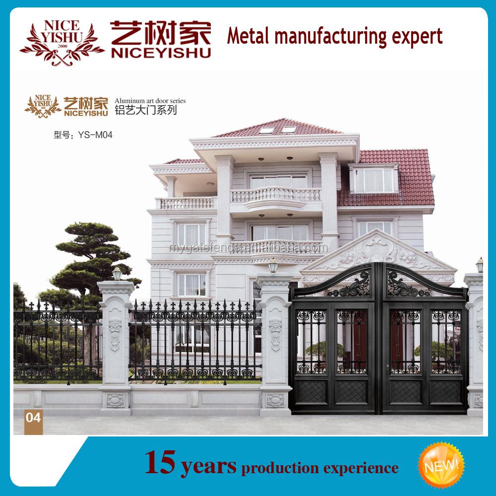 European Design Black Villa Outside Gate Flowers Carving: Villa Gate Design Software: Indian House Latest Main Gate