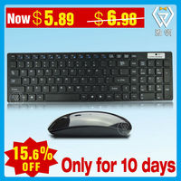 In stock! multimedia 2.4G Wireless slim chocolate keyboard and mouse combo for apple