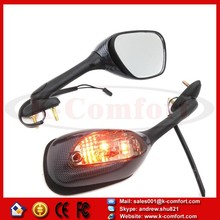 KCM227 Motorcycle 2005-2012 for Suzuki GSX-R GSXR 1000 CARBON SMOKE Integrated Turn Signal Mirrors