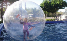 0.7-1.0mmPVC TPU material 1~4m dia with Reinforced Soft Handle Inflatable Water Walking Ball,sports ball,water games