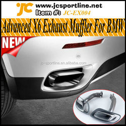 Steel Advanced X6 Car Exhaust Muffler for BMW Fit X6 E71