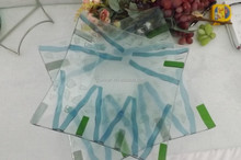 28cm tempered colored Glassware for fruit or pie