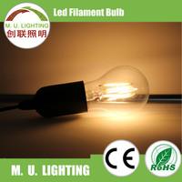 Glass cover ceramic PCB high lumen filament led bulb for caffe house