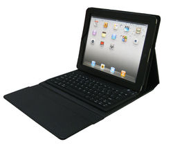 Hottest tablet accessories High-quality 3 folded silicon wireless bluetooth keyboard case for iPad 3