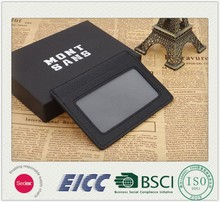 2015.05.25 new coming BSCI leather card holder factory Genuine leather card case/ID, driver's license card holder