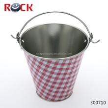 Color de la impresión pequeña lata cubo / de aluminio cubo